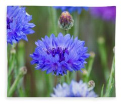 Springtime Blues Fleece Blanket