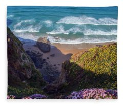 Springtime In Cornwall Fleece Blanket