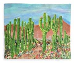 Springtime In The Desert Fleece Blanket