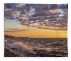 Springtime On Agate Beach Fleece Blanket