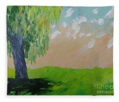 Springtime Willow Fleece Blanket