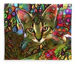 Sprocket The Tabby Kitten Fleece Blanket