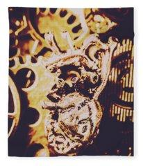 Sprockets And Clockwork Hearts Fleece Blanket