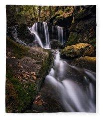 Sprucebrook Falls In Beacon Falls, Ct Fleece Blanket