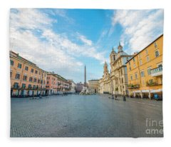 Fleece Blanket featuring the photograph Square Navona by Mats Silvan