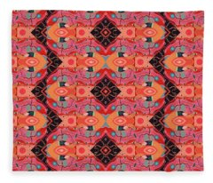 Square Times Four - T J O D 48 Arrangement Multiplied Fleece Blanket