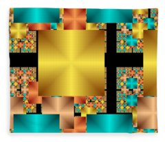 Squares Fleece Blanket