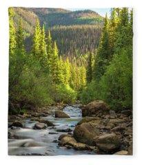 Squaw Creek, Colorado #2 Fleece Blanket