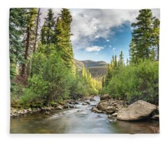 Squaw Creek, Colorado Fleece Blanket