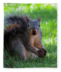 Squirrel 2 Fleece Blanket