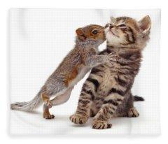 Squirrel Kiss Fleece Blanket