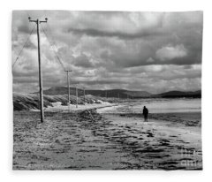 Srah Beach Belmullet Fleece Blanket