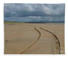 Srah Beach Claggan Island Fleece Blanket