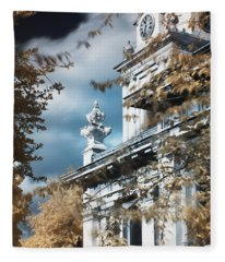 St Alfege Parish Church In Greenwich, London Fleece Blanket