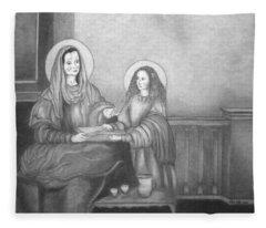 St. Anne And Bvm Fleece Blanket