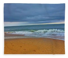 St Augustine Beach Florida Fleece Blanket