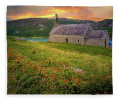 St. Brendan The Navigator Church Of Ireland In Crookhaven Fleece Blanket