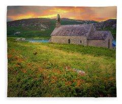 Fleece Blanket featuring the photograph St. Brendan The Navigator Church Of Ireland In Crookhaven by James Truett