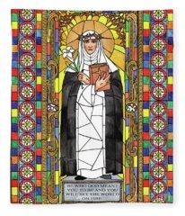 St. Catherine Of Siena Fleece Blanket