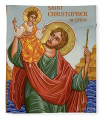 St. Christopher - Jccst Fleece Blanket