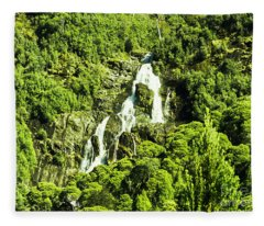 St Columba Falls Tasmania Fleece Blanket