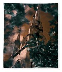 St Dunstan In The East Tower Fleece Blanket