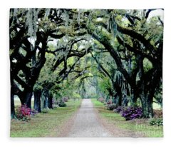 St Francisville Plantation Fleece Blanket