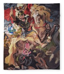 St George And The Dragon Fleece Blanket