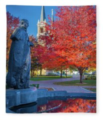 St Ignatius At Gonzaga Fleece Blanket