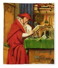 St. Jerome In His Study  Fleece Blanket