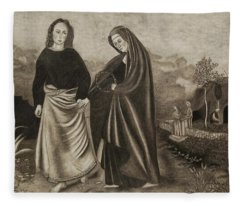 St. John And Blessed Mother At The Tomb Fleece Blanket