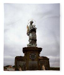 Saint John Of Nepomuk Fleece Blanket