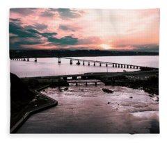 St. Lawrence Sunset Fleece Blanket