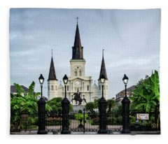 St. Louis Cathedral Fleece Blanket