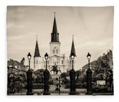 St. Louis Cathedral Sepia Fleece Blanket