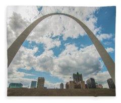 St. Louis Gateway Arch Skyline 9489 Fleece Blanket