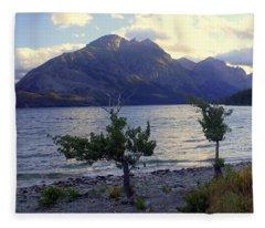 St. Mary Lake Fleece Blanket