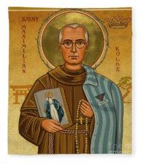 St. Maximilian Kolbe - Jckol Fleece Blanket