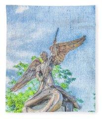 St Michael The Archangel Fleece Blanket
