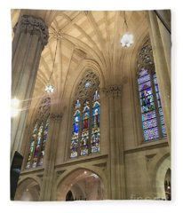 St. Patricks Cathedral Interior Fleece Blanket