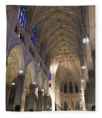 St. Patricks Cathedral Main Interior Fleece Blanket