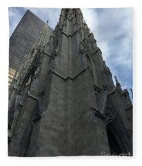 St. Patricks Cathedral Perspective Fleece Blanket