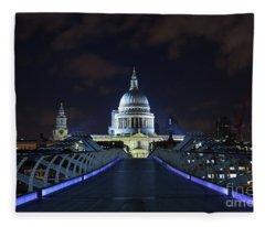 St Paul's Cathedral And The Millennium Bridge Fleece Blanket