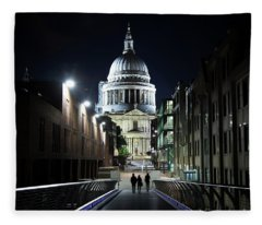 St Paul's Cathedral At Night Fleece Blanket