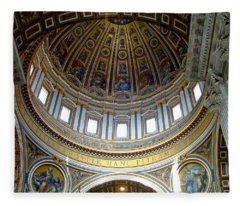 St. Peters Basilica Dome Fleece Blanket