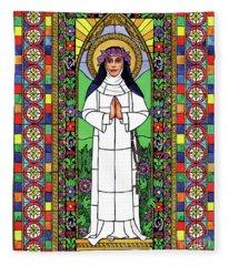 St. Rose Of Lima Fleece Blanket