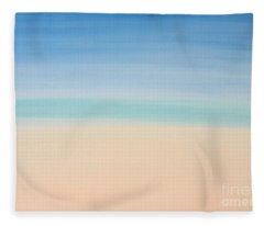 St Thomas #2 Seascape Landscape Original Fine Art Acrylic On Canvas Fleece Blanket