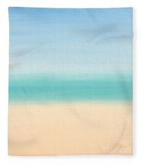 St Thomas #3 Seascape Landscape Original Fine Art Acrylic On Canvas Fleece Blanket