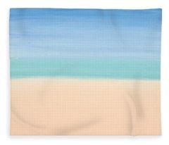 St Thomas #4 Seascape Landscape Original Fine Art Acrylic On Canvas Fleece Blanket