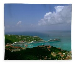 St. Thomas  Harbor Fleece Blanket